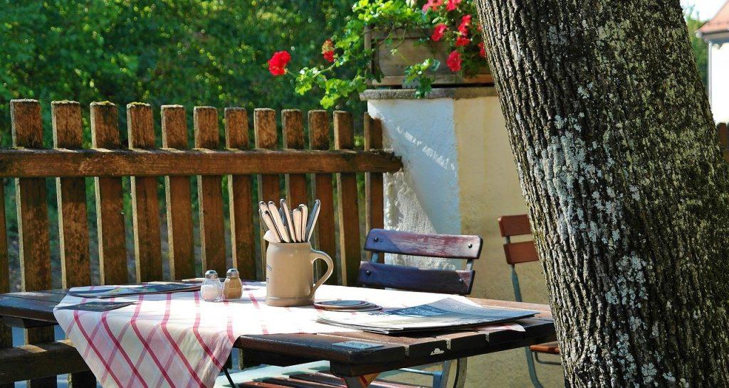 mesas de jardín grandes