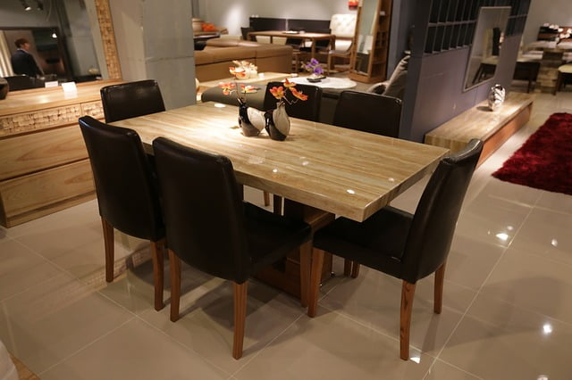 mesas de interior